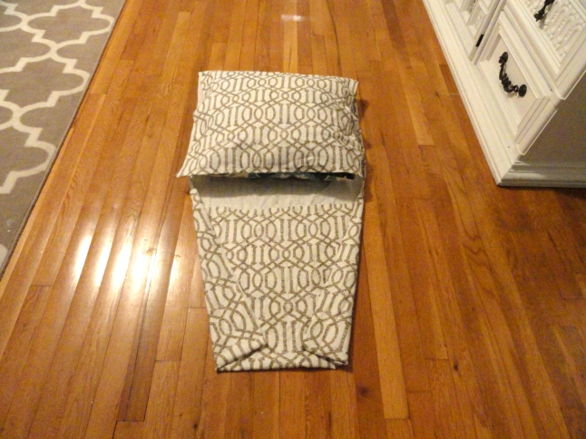 no sew pillow cover step 2