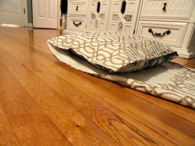 no sew pillow cover step 1