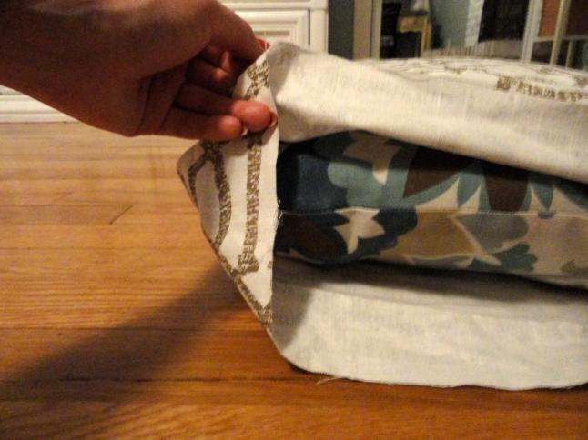 no sew pillow cover step 4