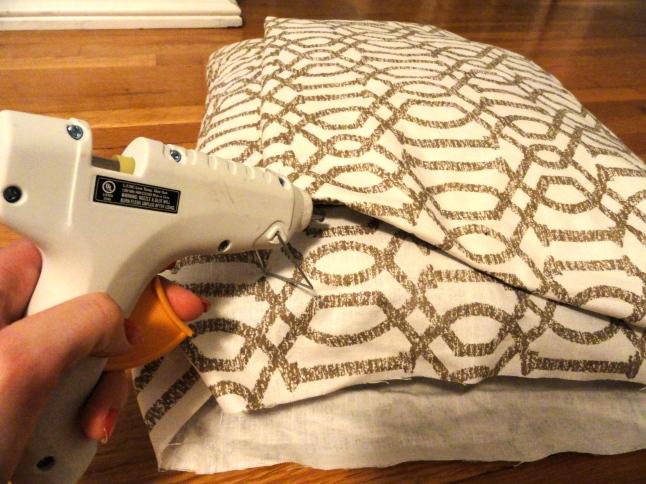 no sew pillow cover step 3
