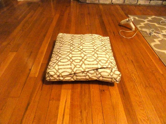 no sew pillow cover step 5
